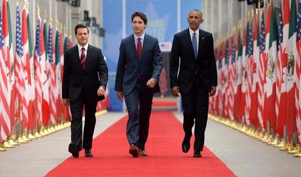 Prime Minister Justin Trudeau, Mexican President Enrique Pena Nieto and U.S. President Barack Obama take part in the North American Leaders' Summit at the National Gallery of Canada in Ottawa on Wednesday, June 29, 2016. THE CANADIAN PRESS/Sean Kilpatrick