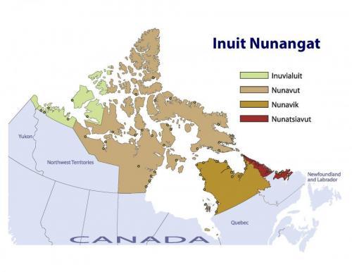 Inuit Canada Map Maps of Inuit Nunangat (Inuit Regions of Canada) — Inuit Tapiriit