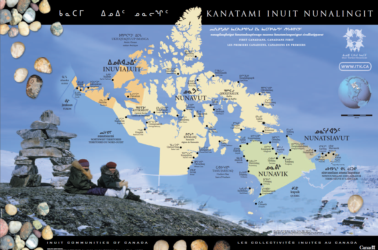 Iqaluit Canada Map.Inuit Communities Of Canada Map Inuit Tapiriit Kanatami