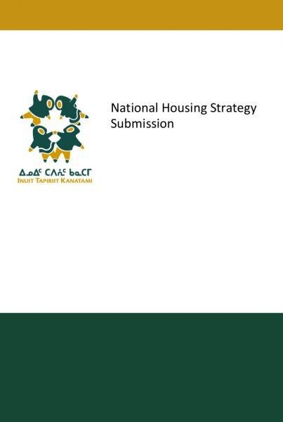 ITK National Housing Strategy Submission 2016 for web