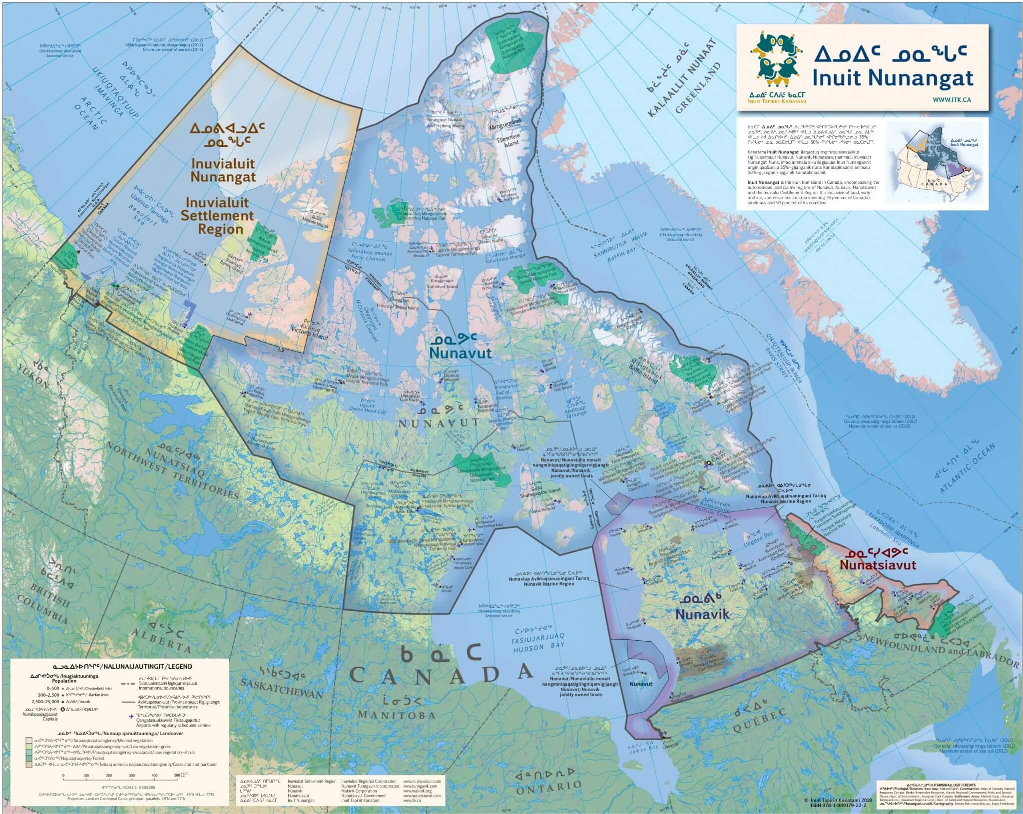 Inuit Canada Map Inuit Nunangat Map — Inuit Tapiriit Kanatami